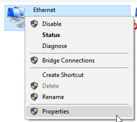 Ethernet-Properties