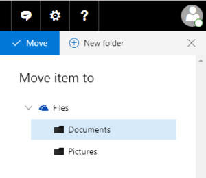 Selecting the destination folder