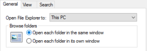 Selecting This PC option