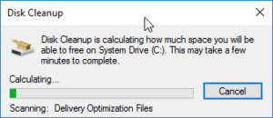 Calculating the total amount of disk space to be freed up