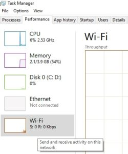 Opening the Ethernet / Wi-Fi category