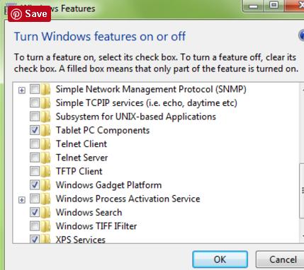 Turning off Windows Gadget Platform