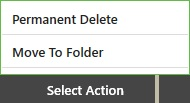 Select Action menu is the final step